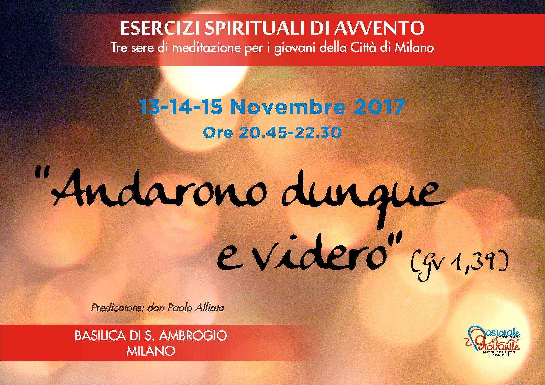 Esercizi Spirituali in S. Ambrogio