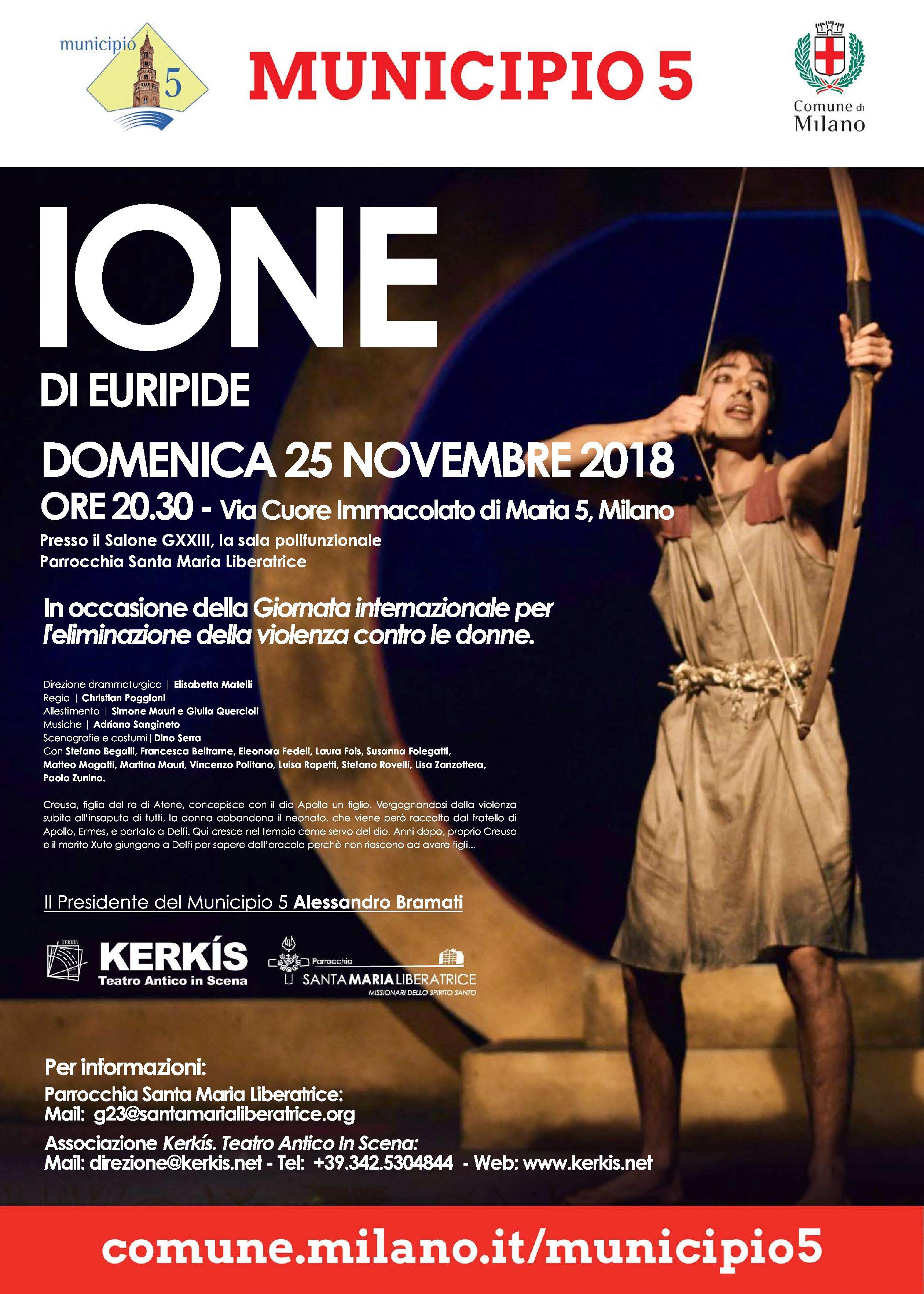 SPETTACOLO: Ione di Euripide