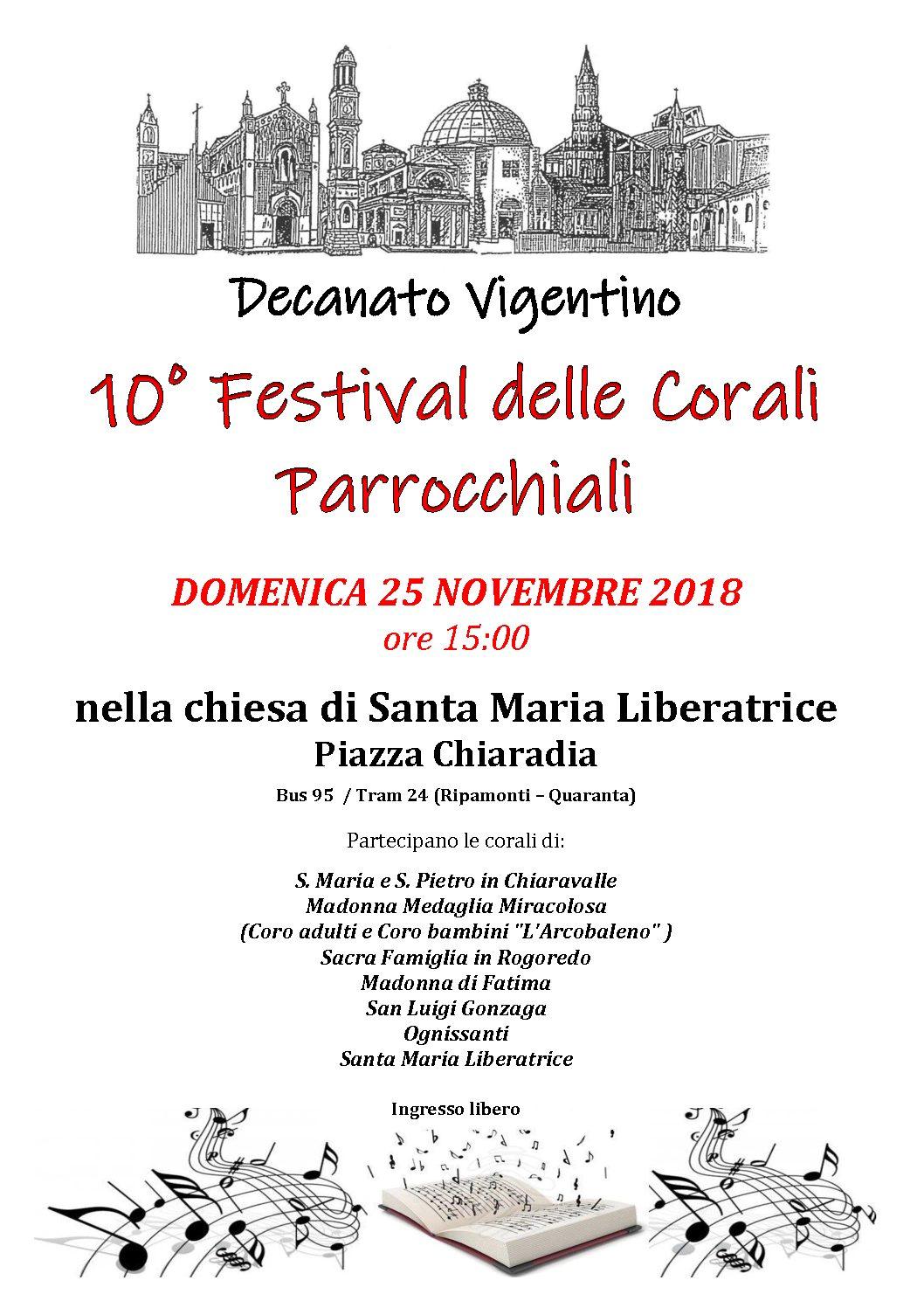 Festival delle Corali Parrocchiali DECANATO VIGENTINO