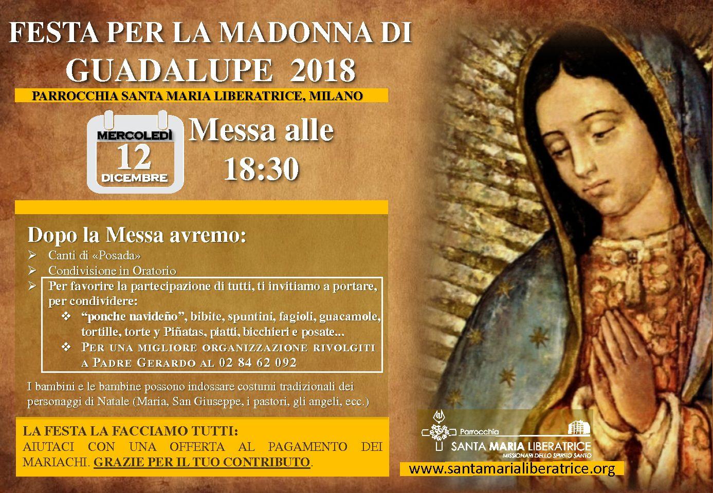 Festa per la Madonna di Guadalupe