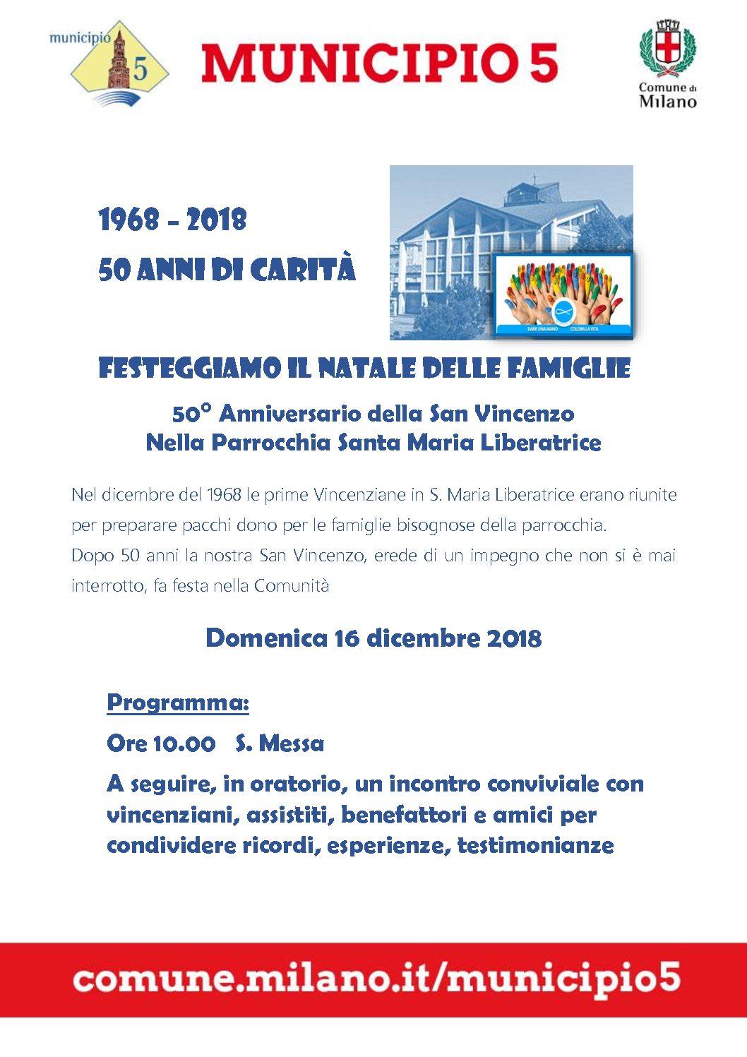 Cinquantesimo della San Vincenzo parrocchiale