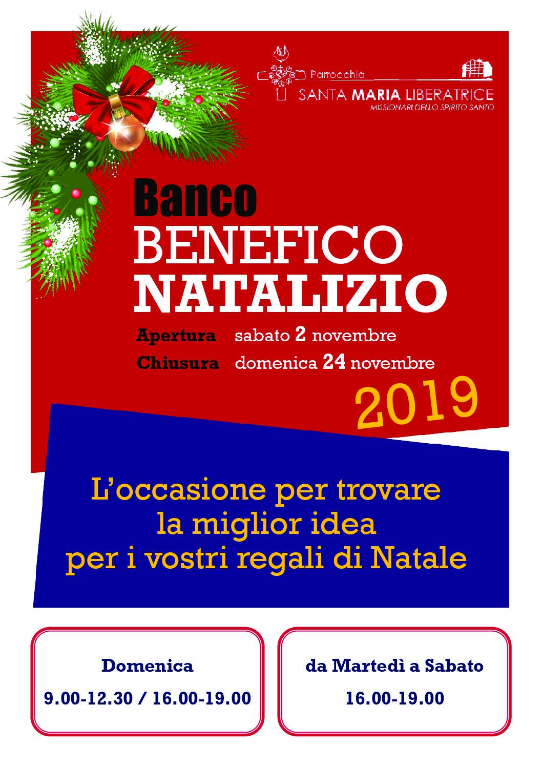 Banco Benefico Natalizio